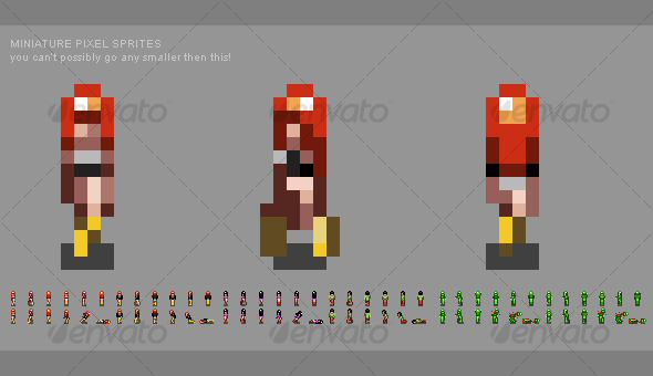 GraphicRiver Miniature Pixel People Sprites 100572
