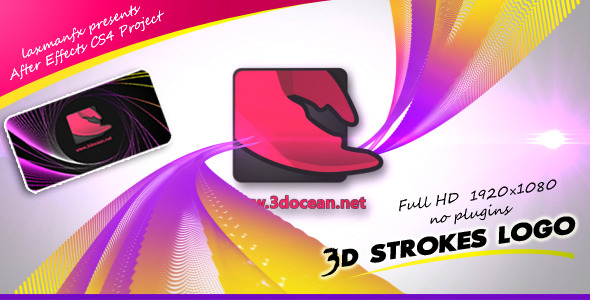After Effects Project - VideoHive 3D Strokes Logo 2857209