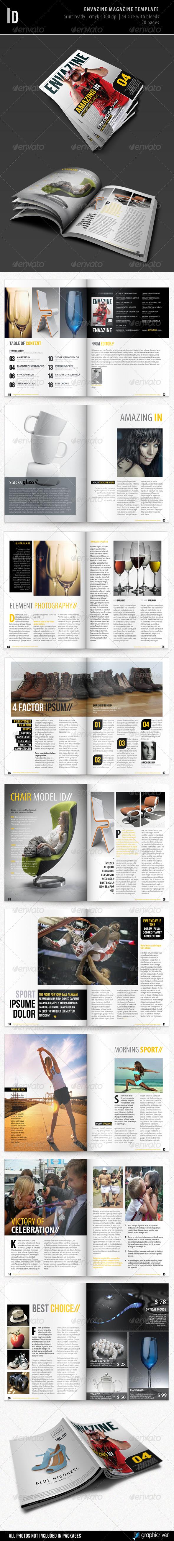 GraphicRiver Envazine Magazine Template 2859221