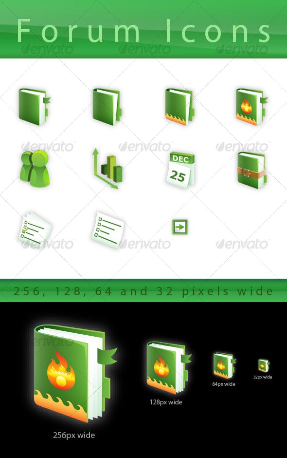 GraphicRiver Green Forum Icon Set 102838