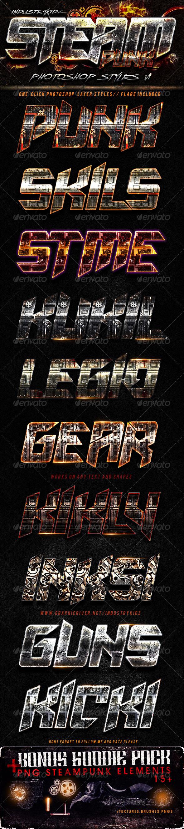 GraphicRiver SteamPunk Photoshop Styles 2863128