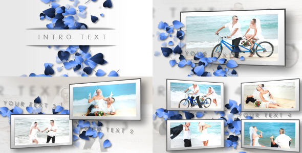 After Effects Project - VideoHive Hearts Clean Wedding Slideshow 2862508