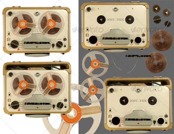 GraphicRiver Old tape recorder parts 95341