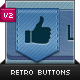 Retro Vintage Social and Web Buttons - GraphicRiver Item for Sale