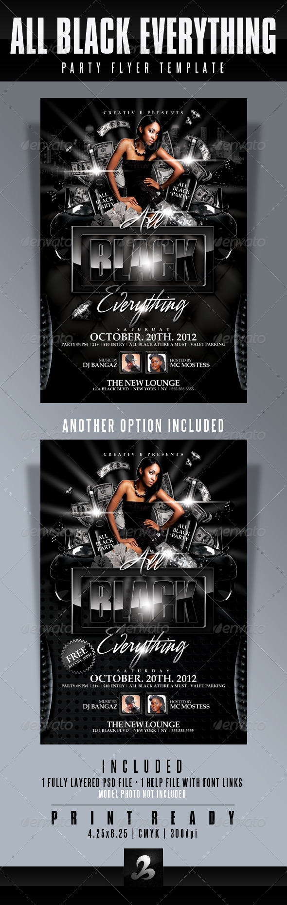 GraphicRiver All Black Everything Party Flyer Template 2822982