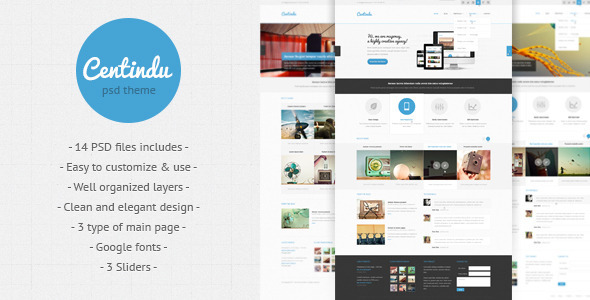 PSD Templates – Centindu – clean and modern PSD template | ThemeForest
