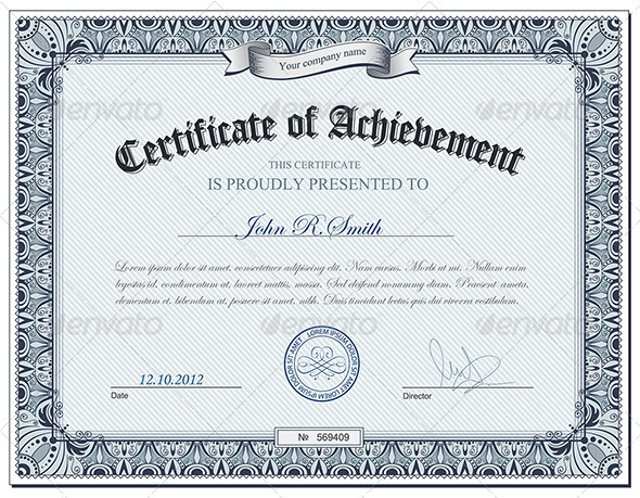 GraphicRiver Detailed certificate 2872494
