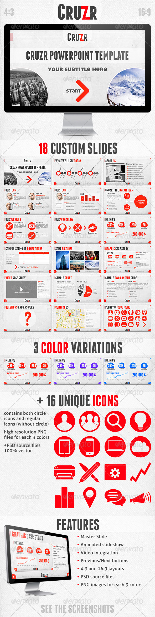 GraphicRiver Cruzr PowerPoint Template 2874289