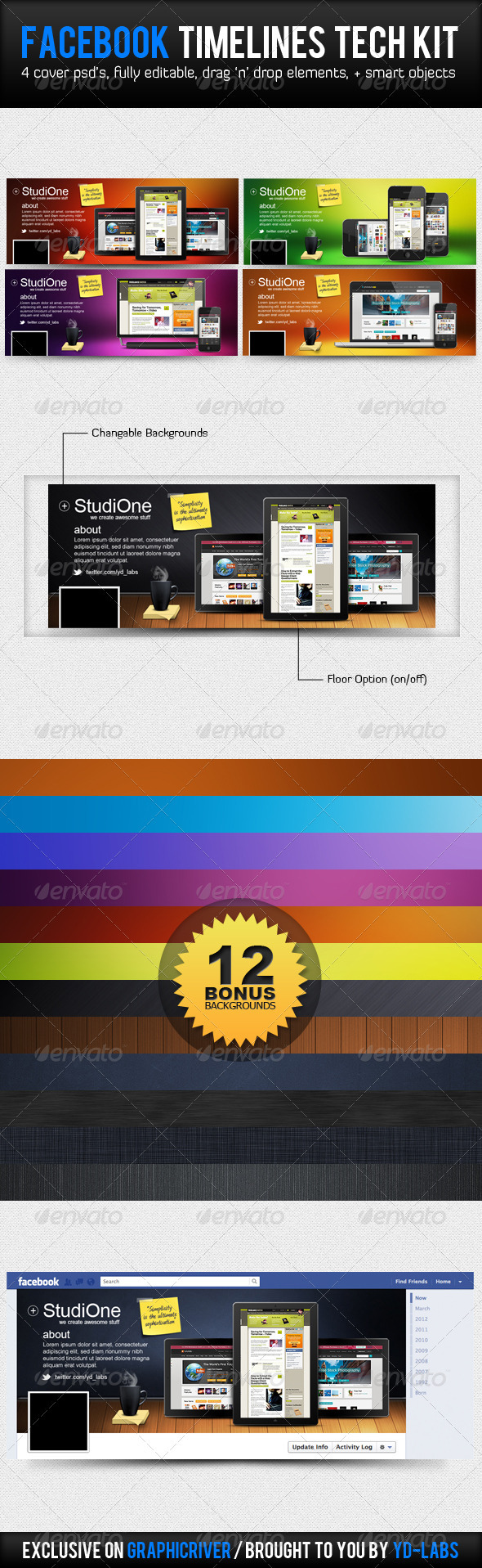 GraphicRiver Facebook Tech Kit 2878471
