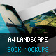 A4 Landscape Book Mockups - GraphicRiver Item for Sale