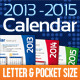 2013, 2014 and 2015 Calendar Template - GraphicRiver Item for Sale