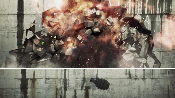 After Effects Project - VideoHive Grenade Wall Explode 2880295