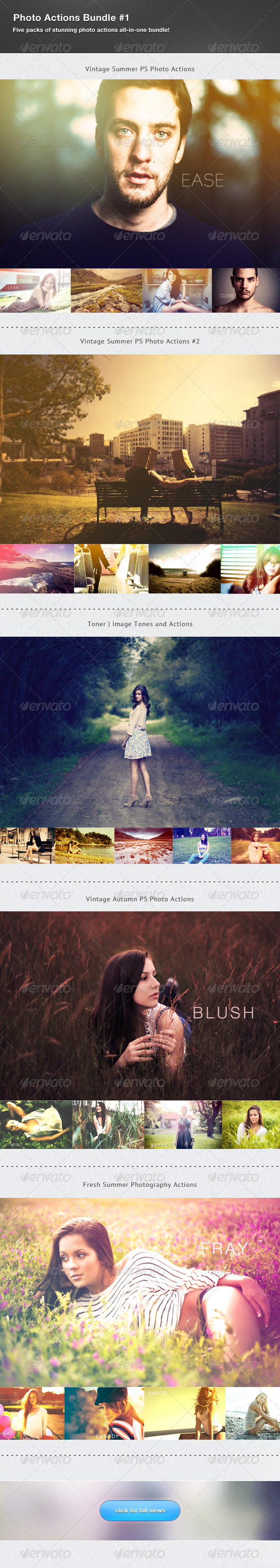 GraphicRiver Photography Actions Bundle #1 2880334