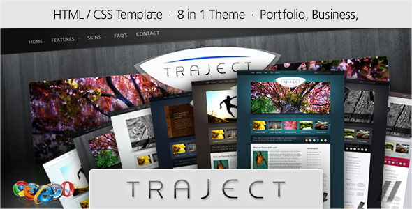 ThemeForest Traject HTML Portfolio and Business Site 103431