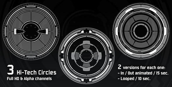 VideoHive 3 Hi-Tech Circles 2882338