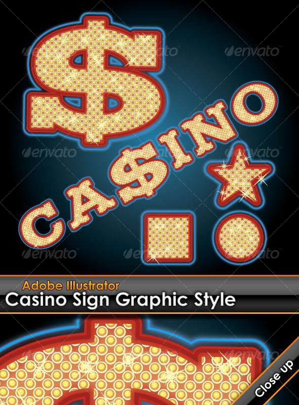GraphicRiver Casino Sign Illustrator Graphic Style 93820