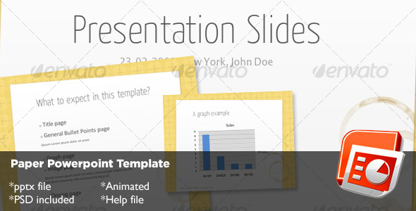 GraphicRiver Paper Powerpoint Template 72674