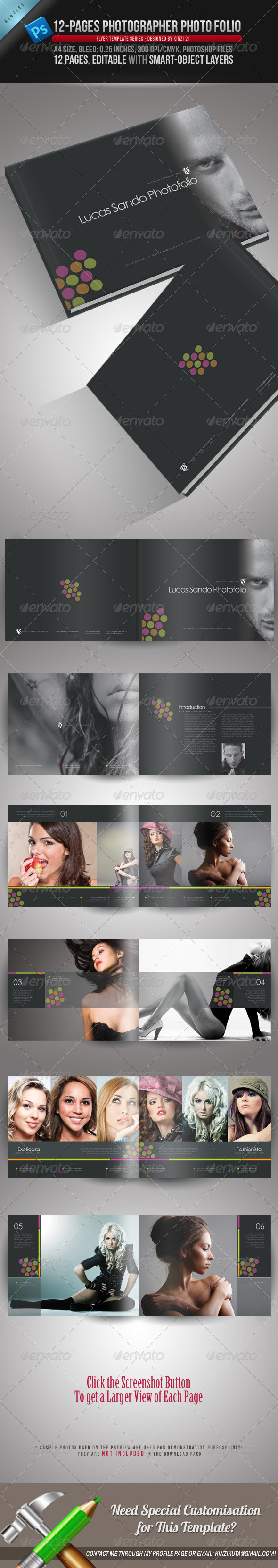 GraphicRiver 12-Pages Photographer Photofolio Template 1967979