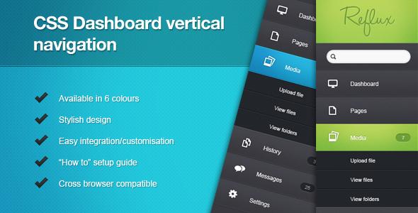 html vertical menu bar template - css css dashboard vertical navigation codecanyon
