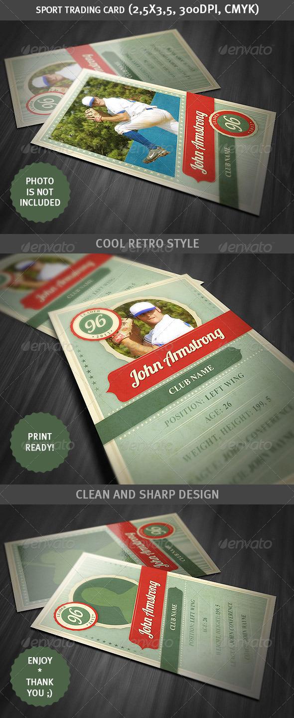 GraphicRiver Sport Trading Card Retro Style 2891401