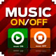 Music OnOff Button - ActiveDen Item for Sale