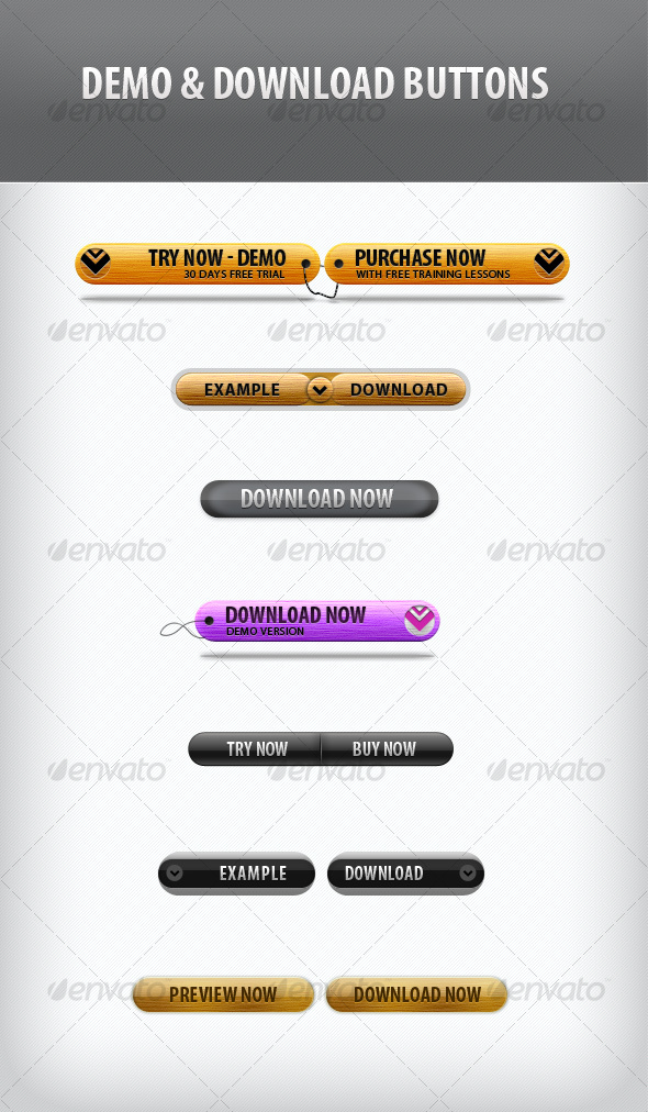 GraphicRiver Demo and Download Buttons 103923