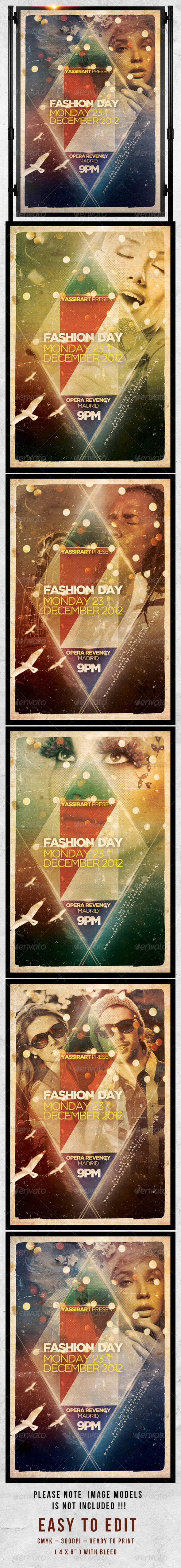 GraphicRiver Fashion Day Flyer Template 2898266