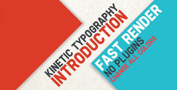 After Effects Project - VideoHive Kinetic Typography Intro 2898762