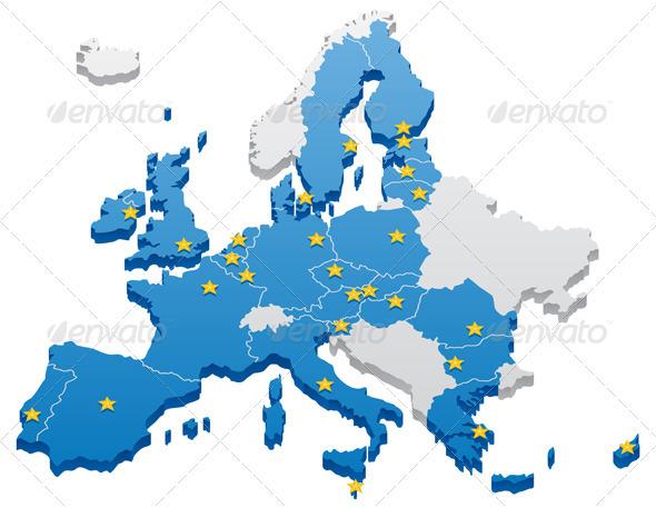 GraphicRiver European Union Map 84255