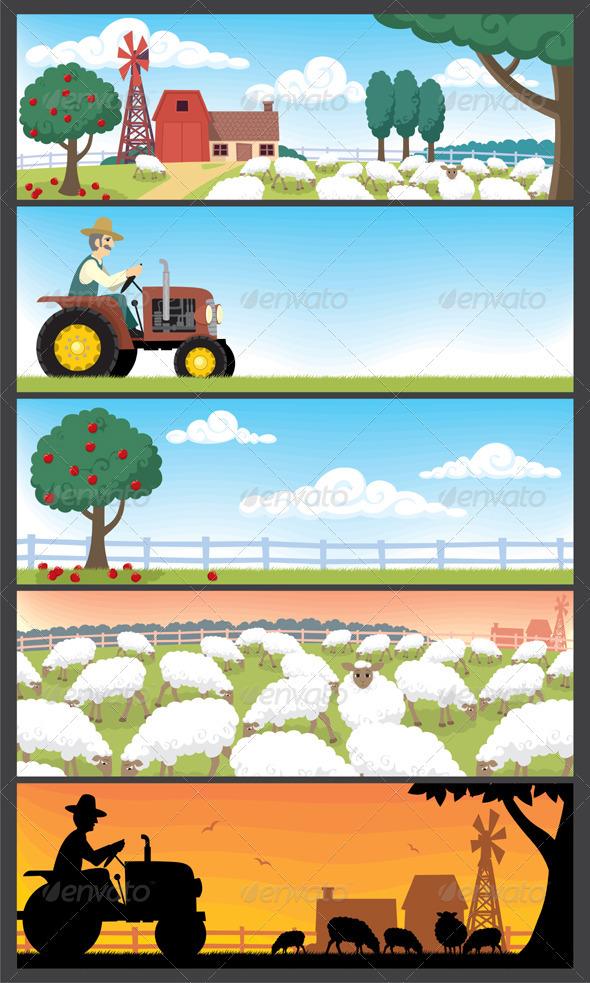 GraphicRiver Farm Landscapes 98643