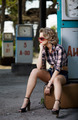 girl at gas station - PhotoDune Item for Sale
