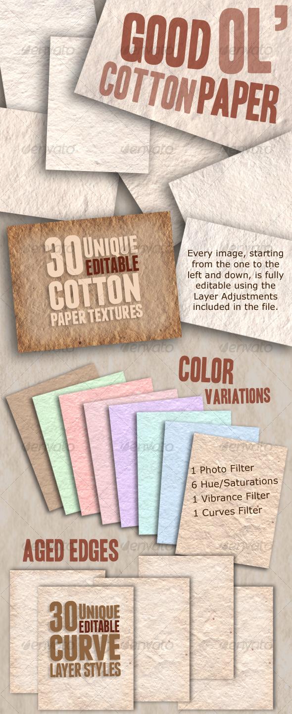 GraphicRiver Good Ol Cotton Paper 104069