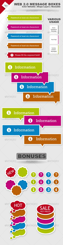 GraphicRiver Web 2.0 Message Boxes 104088
