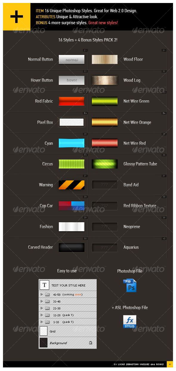GraphicRiver 16&4 Web 2.0 Styles Pack 2 86237