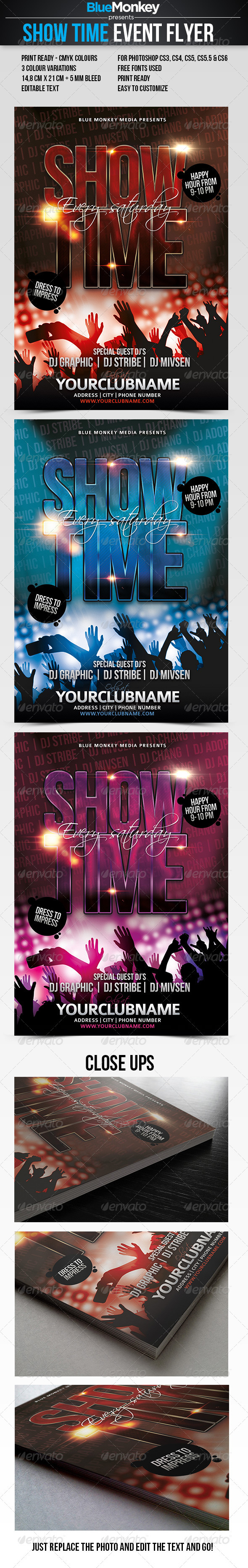 GraphicRiver Show Time Event Flyer 2905229