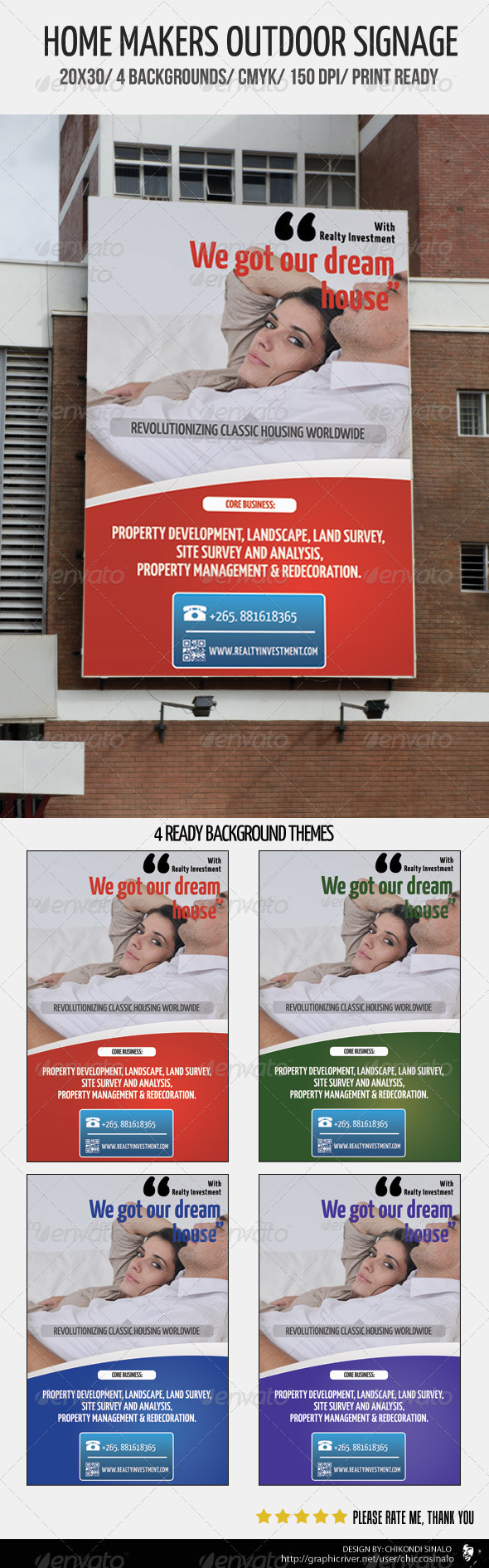 GraphicRiver Home Makers Outdoor Signage 2473544