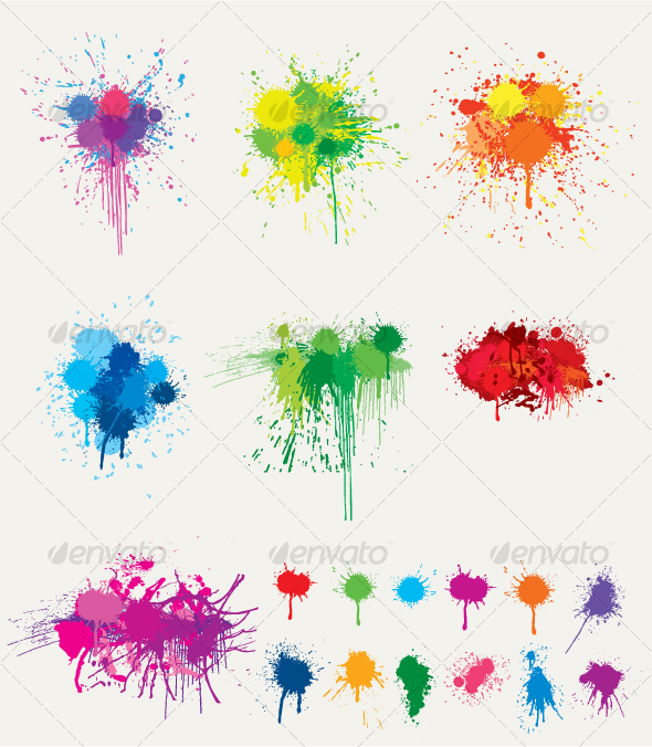 GraphicRiver Ink Splat Collection 104221