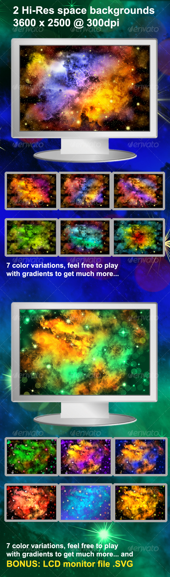 GraphicRiver Hi-Res Space Backgrounds 104226