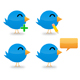Set of 4 Twitter Icons - GraphicRiver Item for Sale