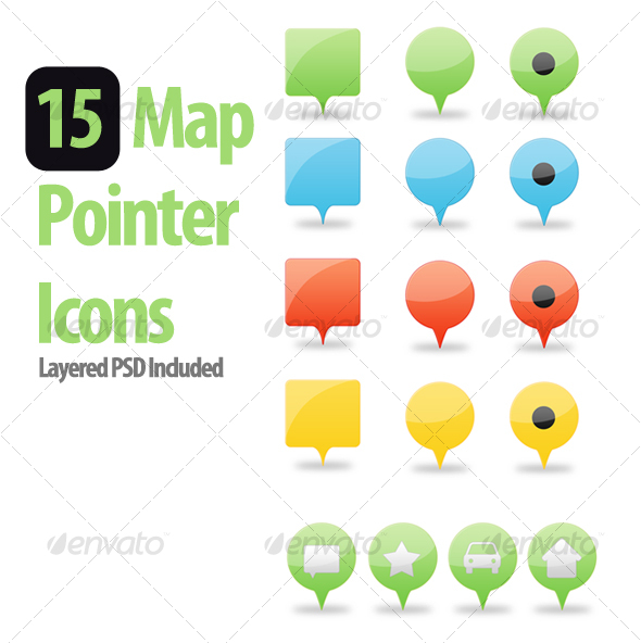 GraphicRiver Web 2.0 Map Pointers 104284