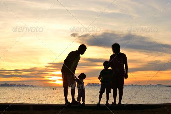Family Naked At Beach