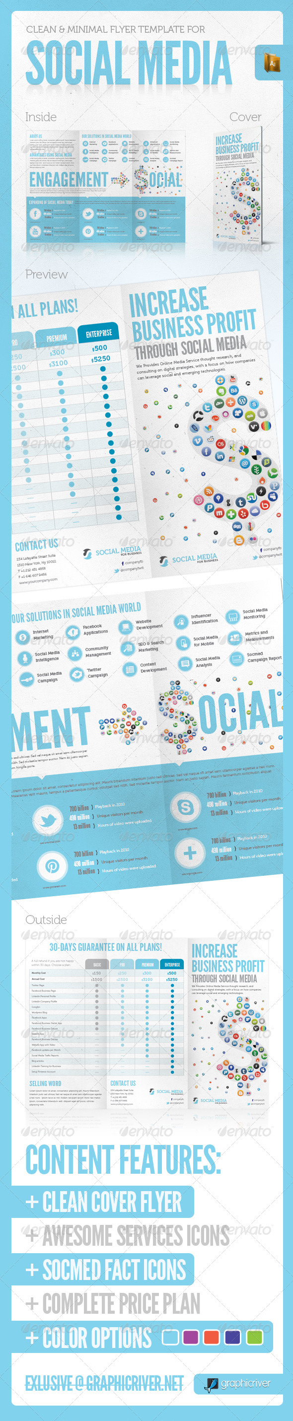 GraphicRiver SOCIAL MEDIA PRINT TEMPLATE VOL 3 2910164
