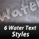 6 Water Text Styles - GraphicRiver Item for Sale