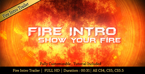 After Effects Project - VideoHive Fire Intro Trailer 2913102