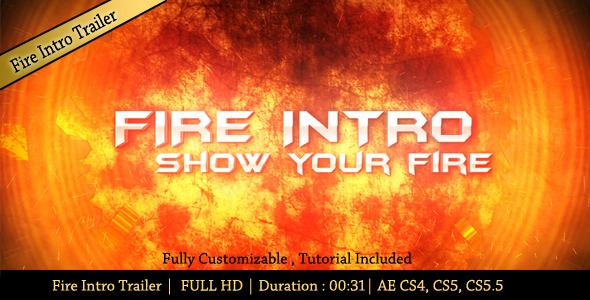 VideoHive Fire Intro Trailer 2913102