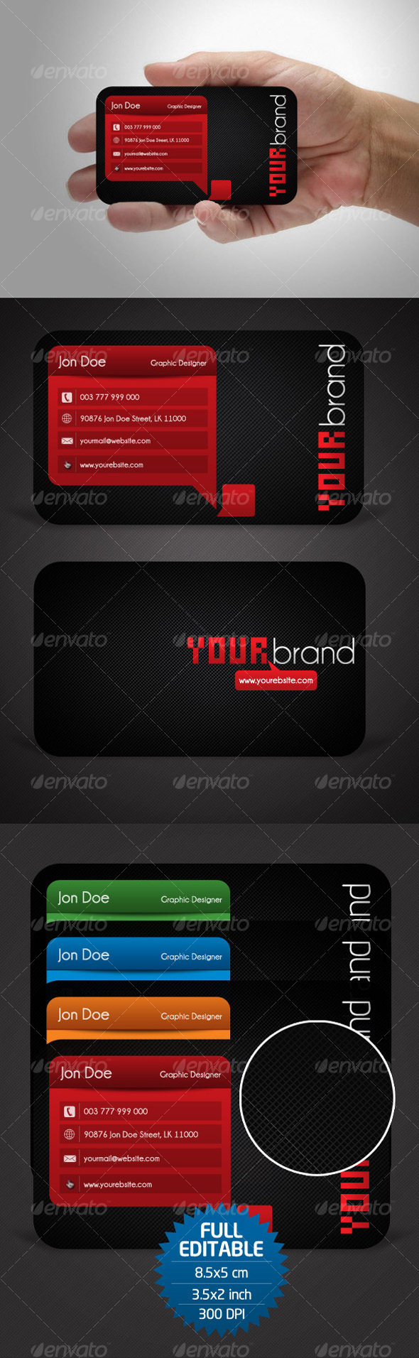 GraphicRiver 4 Variation Business Card 104485