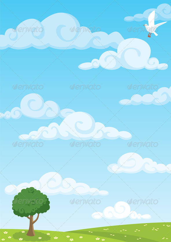 GraphicRiver Meadow Background 100564