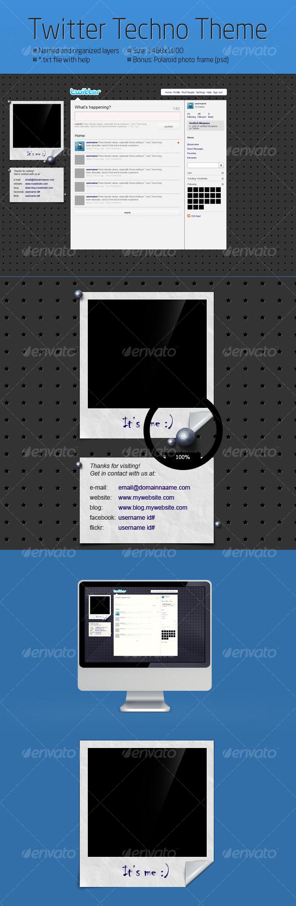 GraphicRiver Twitter Techno Theme 104575