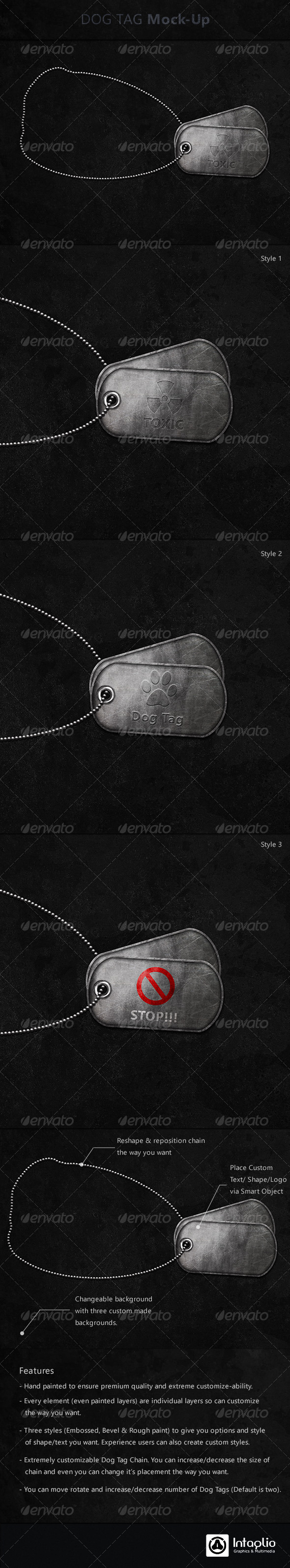 GraphicRiver Dog Tag Mock-Up 2918147