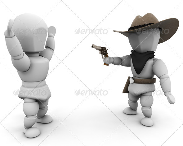 Graphic River Its a stick up Graphics -  3D Renders  Characters 305701